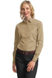 USU Women's LS Cotton Twill Shirt