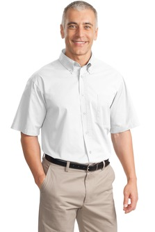 USU Men's SS Cotton Twill Shirt