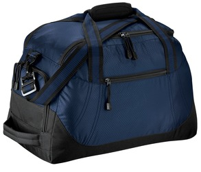 Utah State Navy Honeycomb Duffel Bag