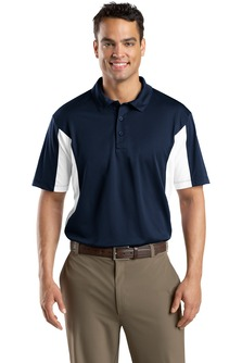 USU Mens Side Blocked Micropique Sport-Wick Polo