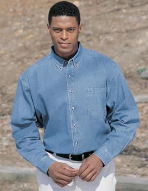 Utah State Mens Trekker LS Denim Shirt