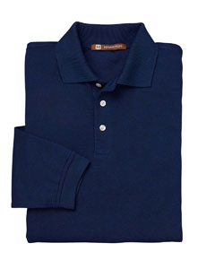 USU Mens Easy Blend LS Polo