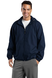 Aggie Mens Hooded Raglan Jacket