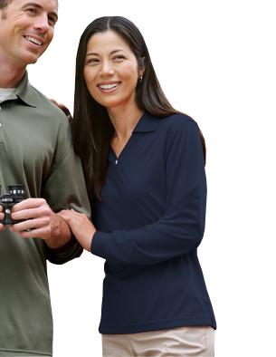 USU Womens Eclipse LS Golf Shirt