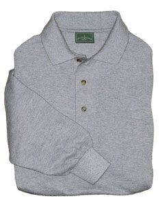 Aggie Mens Essential LS Pique Polo