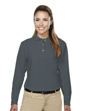 Utah State Womens Victory LS Golf Shirt