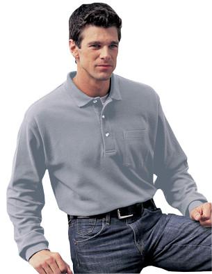 USU Mens Spartan LS Golf Shirt