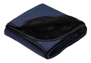 Aggies Classic Navy/Black Fleece and Nylon Travel Blanket
