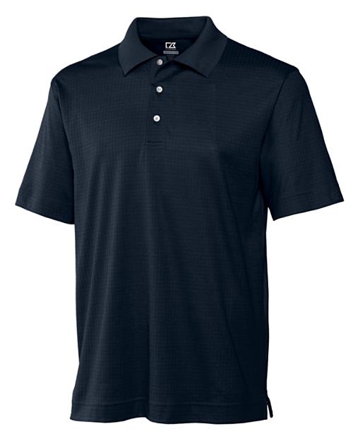 Utah State Mens CB DryTec Luxe Element Jacquard Polo