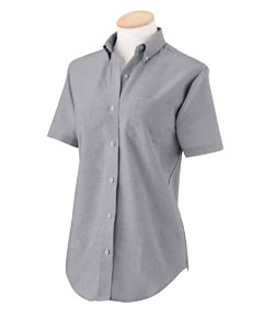 Utah State Ladies SS Wrinkle Resistant Oxford Shirt