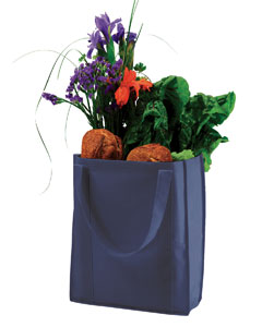 USU Navy Non-Woven Grocery Tote