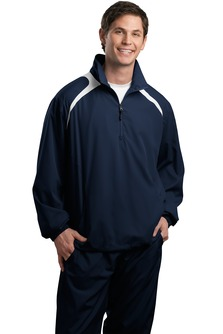 USU Mens 1/2 Zip Wind Shirt