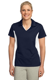 USU Ladies Side Blocked Micropique Sport-Wick Polo