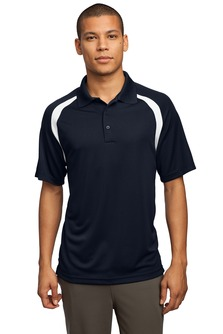 USU Mens Dry Zone Colorblock Raglan Polo