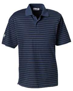 USU Mens Dual Tone Pique Strip Polo