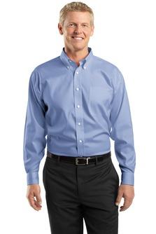 Utah State Mens Non-Iron Pinpoint Oxford Shirt