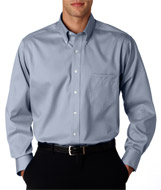 Aggie Mens LS Non Iron Pinpoint Oxford Shirt