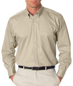 Utah State Mens LS Dress Twill Shirt