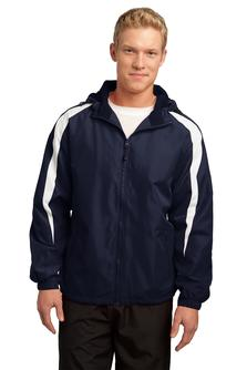 Aggie Mens Colorblock Hooded Jacket