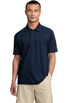 USU Mens Contrast Stitch Micropique Sport-Wick Polo